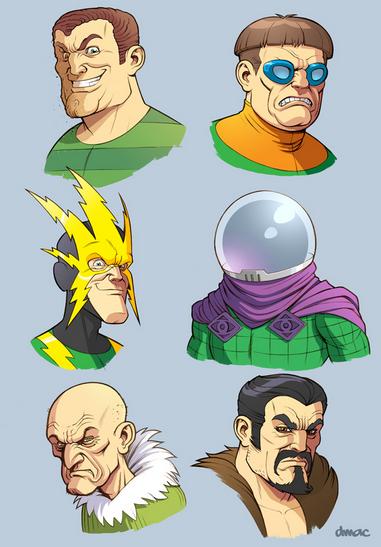 Sinister Sixってのは、コミック上ですでに登場している敵グループみたいですね。
